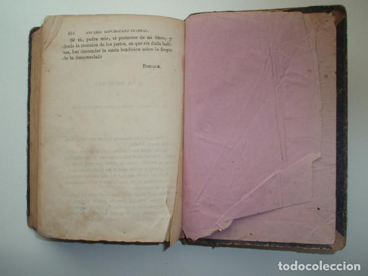 Libros antiguos: ANUARIO REPUBLICANO FEDERAL. J. CASTRO Y COMPAÑÍA. MADRID 1870. 2 TOMOS. - Foto 5 - 157215766