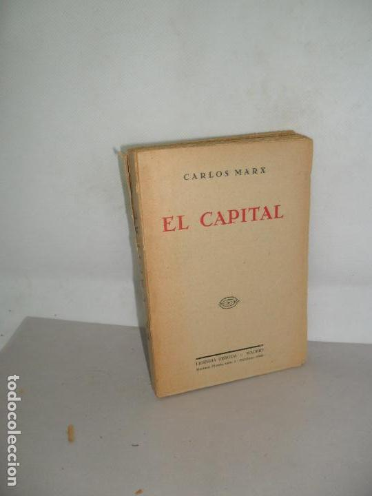 EL CAPITAL, CARLOS MARX, ED. LIBRERÍA BERGUA, VERSIÓN DE JUAN ESPAÑA, S/F, MUY RARO (Libros Antiguos, Raros y Curiosos - Pensamiento - Política)