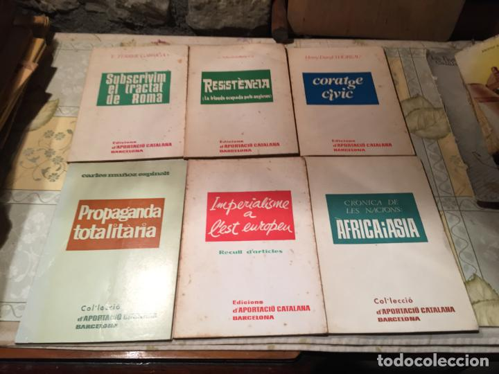 ANTIGUOS 6 LIBROS APORTACIÓ CATALANA BARCELONA PROPAGANDA TOTALITARIA, RESISTENCIA ETC AÑO 1966 (Libros Antiguos, Raros y Curiosos - Pensamiento - Política)