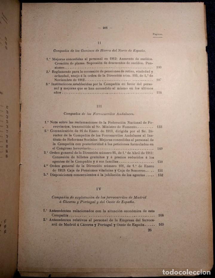 Libros antiguos: Conflicto de obreros y empleados de las compañías de ferrocarriles. 1912. - Foto 3 - 158934242
