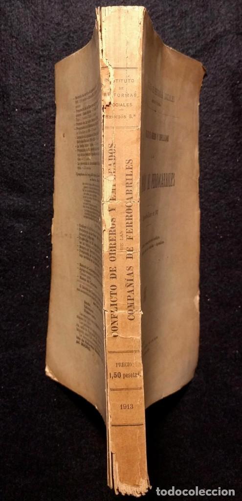 Libros antiguos: Conflicto de obreros y empleados de las compañías de ferrocarriles. 1912. - Foto 5 - 158934242