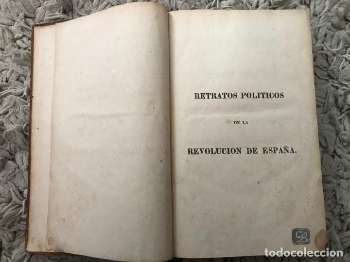 Libros antiguos: Retratos Políticos de la Revolución de España. Carlos Le Brun. 1826. Filadelfia - Foto 4 - 163801938