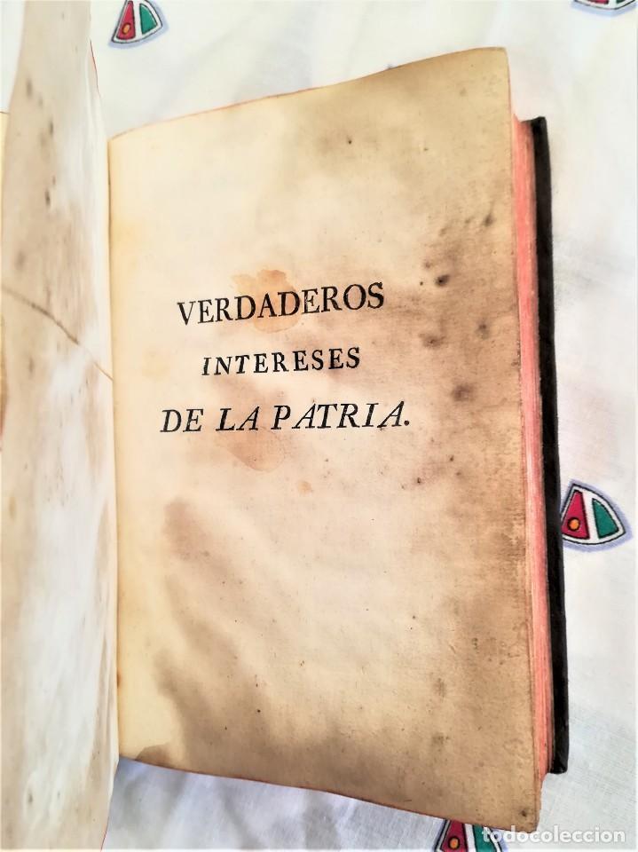 Libros antiguos: ANTIGUO LIBRO SIGLO XVIII,VERDADEROS INTERESES DE LA PATRIA,AÑO 1785,MILITAR,GUERRAS,MINAS ORO-PLATA - Foto 2 - 163969790