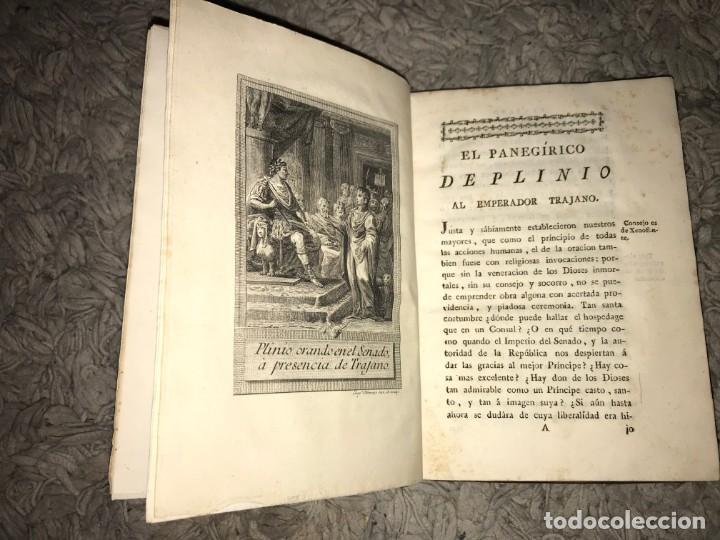 Libros antiguos: El Panegírico de Plinio en Castellano pronunciado en el Senado. Francisco de Barreda. 1787 - Foto 3 - 164277382