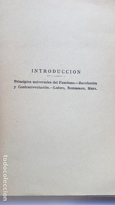 Libros antiguos: FASCISMO,CATOLICISMO,MONARQUIA.MARQUES DE LA ELISEDA. 1935. - Foto 2 - 164848666
