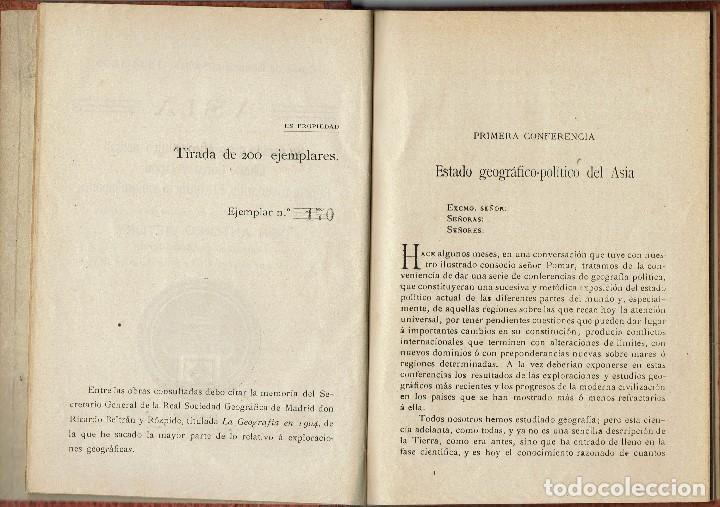 Libros antiguos: ASIA, POR ANTONIO VICTORY. AÑO 1909. (MENORCA.1.4) - Foto 3 - 164999714