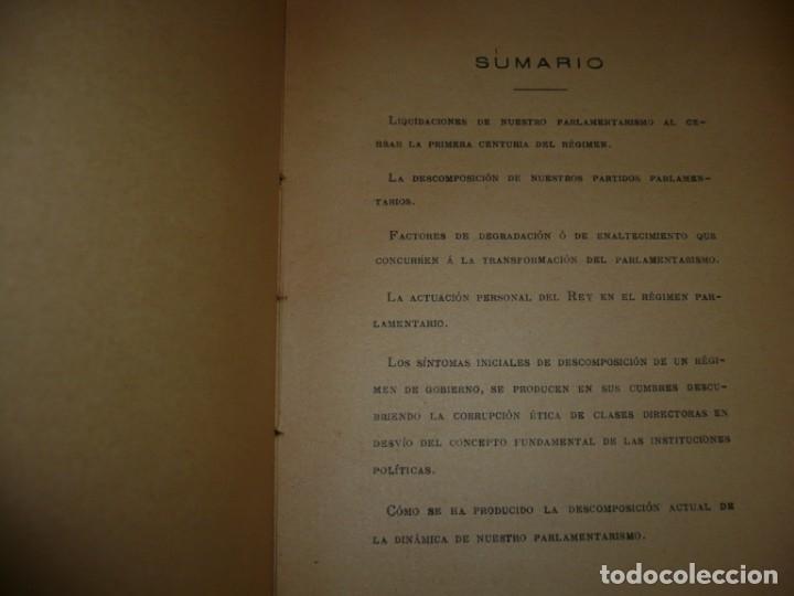 Libros antiguos: LA CRISIS DE NUESTRO PARLAMENTARISMO JOAQUIN SANCHEZ DE TOCA 1914 MADRID - Foto 6 - 166851138