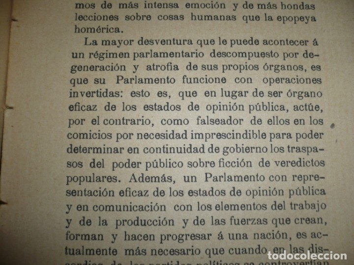 Libros antiguos: LA CRISIS DE NUESTRO PARLAMENTARISMO JOAQUIN SANCHEZ DE TOCA 1914 MADRID - Foto 10 - 166851138