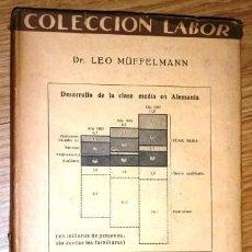 Libros antiguos: ORIENTACIÓN DE LA CLASE MEDIA POR LEO MÜFFELMANN DE ED. LABOR EN BARCELONA 1931 2ª EDICIÓN. Lote 168202768