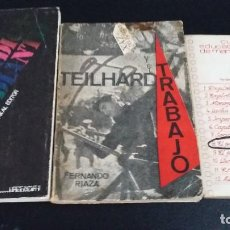Libros antiguos: LOTE 3 LIBROS, POR UN SINDICATO ESTUDIANTIL,TRABAJO,CUADERNO DE EDUCACION POPULAR. Lote 169042772