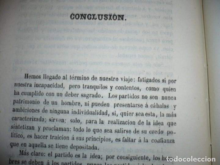 Libros antiguos: EL PARTIDO PROGRESISTA O ESPARTERO Y OLOZAGA RAMON G.CHAPARRO 1864 MADRID DEDICADO - Foto 12 - 169359532