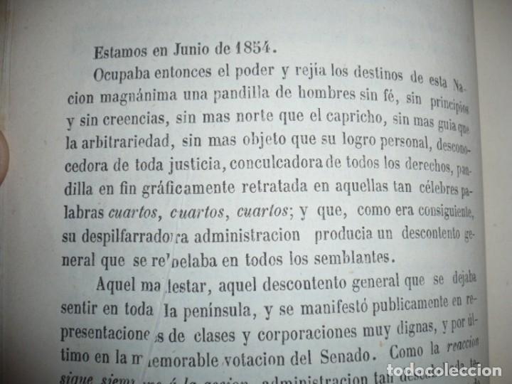 Libros antiguos: EL PARTIDO PROGRESISTA O ESPARTERO Y OLOZAGA RAMON G.CHAPARRO 1864 MADRID DEDICADO - Foto 8 - 169359532