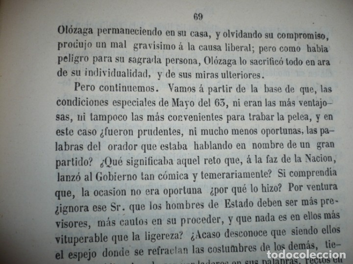 Libros antiguos: EL PARTIDO PROGRESISTA O ESPARTERO Y OLOZAGA RAMON G.CHAPARRO 1864 MADRID DEDICADO - Foto 10 - 169359532