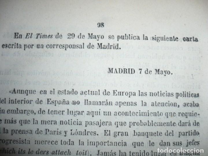 Libros antiguos: EL PARTIDO PROGRESISTA O ESPARTERO Y OLOZAGA RAMON G.CHAPARRO 1864 MADRID DEDICADO - Foto 11 - 169359532
