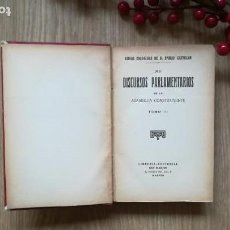 Libros antiguos: EMILIO CASTELAR. DISCURSOS PARLAMENTARIOS DE LA ASAMBLEA CONSTITUYENTE.. Lote 169465564