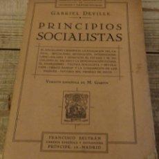 Libros antiguos: PRINCIPIOS SOCIALISTAS. - DEVILLE, GBRIEL.. Lote 175444559