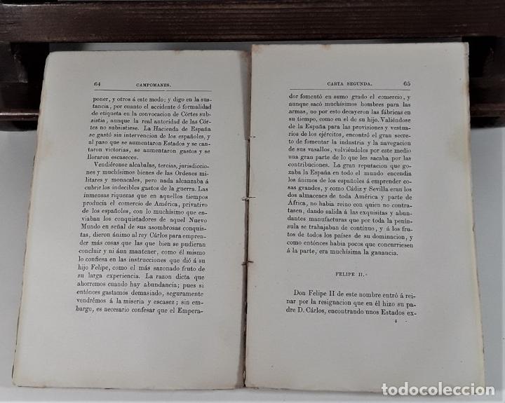 Libros antiguos: CARTAS POLÍTICO-ECONÓMICAS ESCRITAS POR EL CONDE DE CAMPOMANES, AL CONDE DE LERENA. - Foto 5 - 175775278