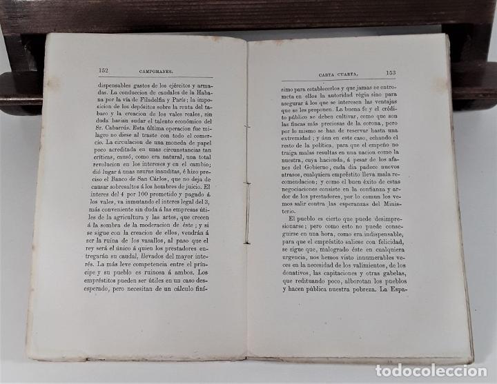 Libros antiguos: CARTAS POLÍTICO-ECONÓMICAS ESCRITAS POR EL CONDE DE CAMPOMANES, AL CONDE DE LERENA. - Foto 6 - 175775278