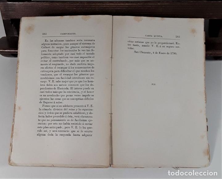 Libros antiguos: CARTAS POLÍTICO-ECONÓMICAS ESCRITAS POR EL CONDE DE CAMPOMANES, AL CONDE DE LERENA. - Foto 7 - 175775278