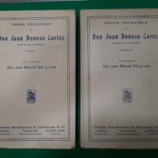 Libros antiguos: OBRAS ESCOGIDAS DE DON JUAN DONOSO CORTÉS, MARQUÉS DE VALDEGAMAS. 2 TOMOS COMPLETO.. Lote 176552482