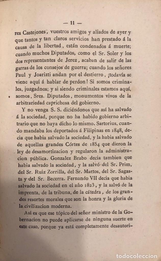 Libros antiguos: DISCURSOS PARLAMENTARIOS. EMILIO CASTELAR. TOMO II. 2ª EDICION. MADRID, 1873. PAGS: 441. - Foto 4 - 176862869