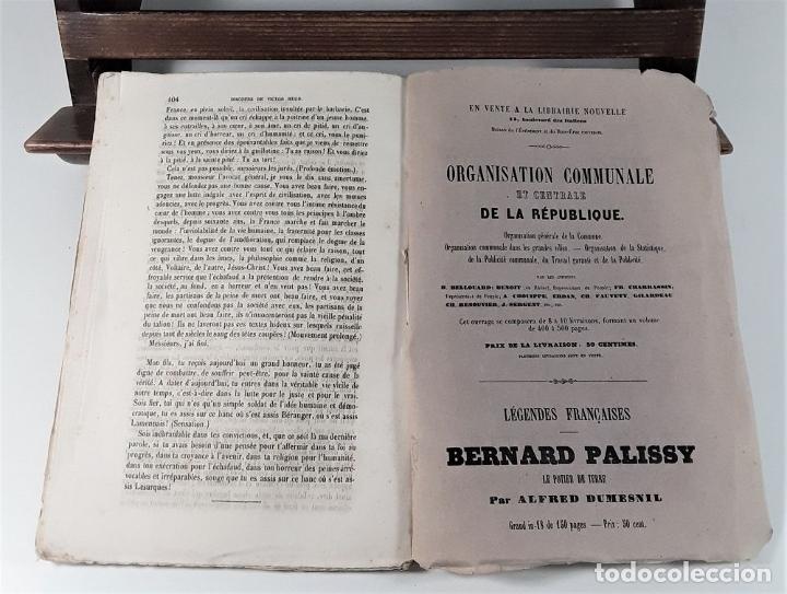 Libros antiguos: VICTOR HUGO. TREIZE DISCOURS. LIBRAIRIE NOUVELLE. PARÍS. 1851. - Foto 8 - 178035247