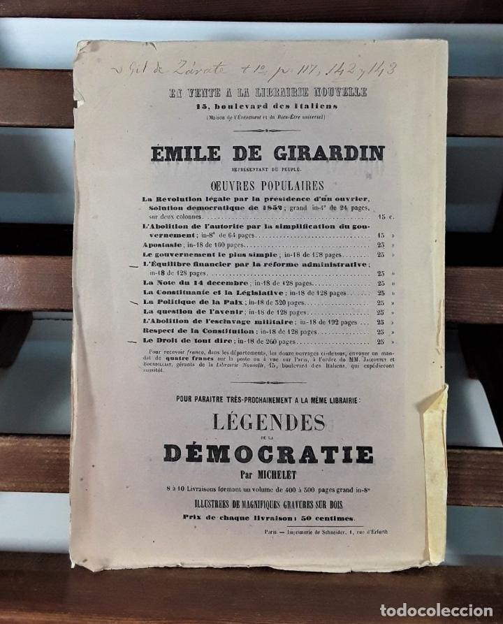 Libros antiguos: VICTOR HUGO. TREIZE DISCOURS. LIBRAIRIE NOUVELLE. PARÍS. 1851. - Foto 9 - 178035247