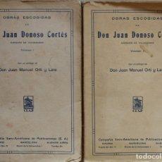 Libros antiguos: OBRAS ESCOGIDAS DE DON JUAN DONOSO CORTÉS. MARQUÉS DE VALDEGAMAS - JUAN DONOSO CORTÉS. Lote 178135872