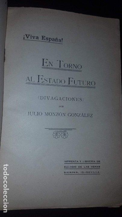 Libros antiguos: En torno al Estado Futuro (Divagaciones) - 1936 - Foto 2 - 178737570