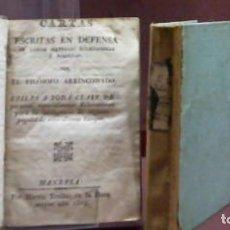 Libros antiguos: FRANCISCO ARAGONES ... CARTAS ESCRITAS EN DEFENSA DE VARIAS MATERIAS ECLESIASTICAS Y POLITICAS. Lote 179084028