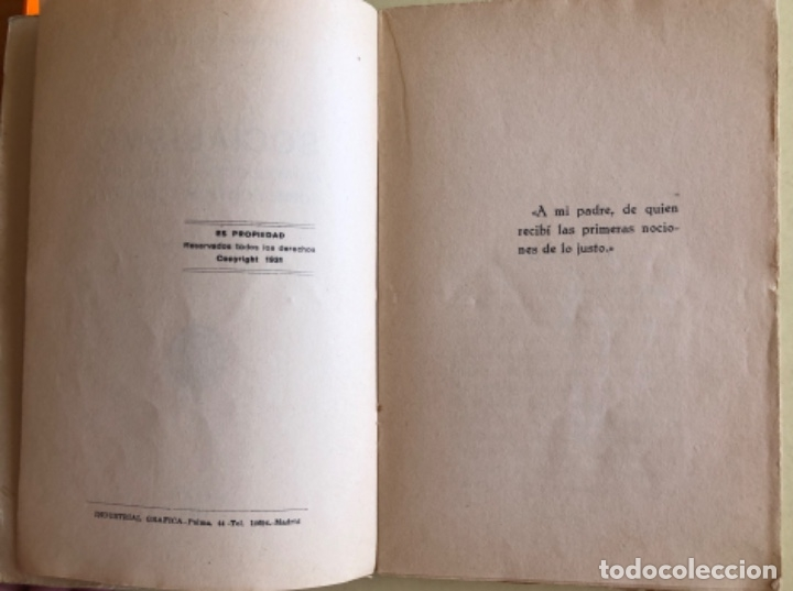 Libros antiguos: SOCIALISMO- ANTONIO MARIN MONROY- MADRID 1.931- PRIMERA EDICION- DEDICADO - Foto 4 - 179515891