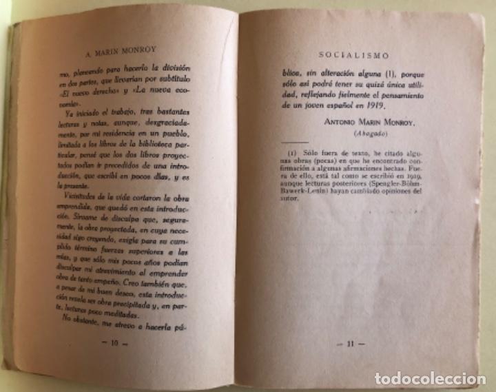Libros antiguos: SOCIALISMO- ANTONIO MARIN MONROY- MADRID 1.931- PRIMERA EDICION- DEDICADO - Foto 5 - 179515891