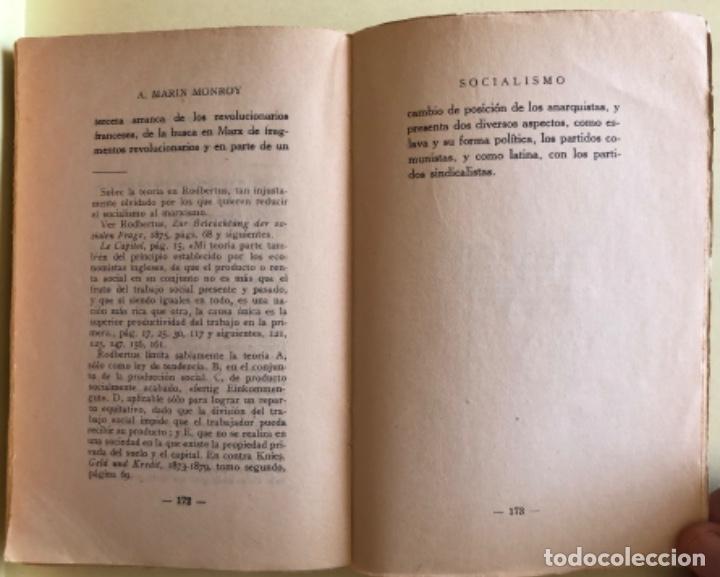 Libros antiguos: SOCIALISMO- ANTONIO MARIN MONROY- MADRID 1.931- PRIMERA EDICION- DEDICADO - Foto 8 - 179515891