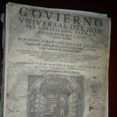 Libros antiguos: MICROCOSMIA Y GOVIERNO UNIVERSAL DEL HOMBRE CHRISTIANO MARCO A. CAMOS 1592 BARCELONA. Lote 180148303