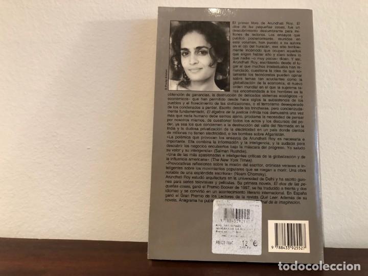 Libros antiguos: El algebra de la justicia infinita. Arundhati Roy. Ensayos . Editorial Anagrama .Globalizacion - Foto 2 - 180204961