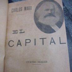 Libri antichi: EL CAPITAL, CARLOS MARX, EDIT.F. SEMPERE Y CIA,VALENCIA. C.1910.VERS. ESP. T.ALVAREZ, 251 PP **502. Lote 189593225