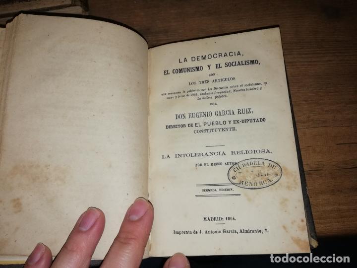 Libros antiguos: RARO EJEMPLAR FOLLETOS POLÍTICOS : LA DEMOCRACIA,COMUNISMO, SOCIALISMO DE EUGENIO GARCÍA.... - Foto 6 - 190778570