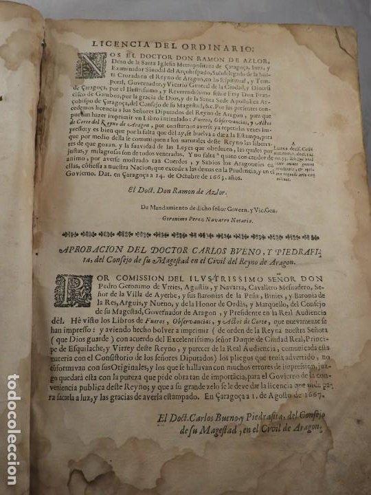 Libros antiguos: LIBRO FUEROS Y OBSERVANCIAS DEL REYNO DE ARAGON AÑO 1667 - Foto 2 - 190810318