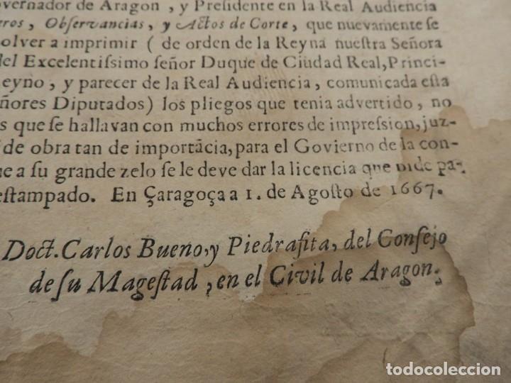 Libros antiguos: LIBRO FUEROS Y OBSERVANCIAS DEL REYNO DE ARAGON AÑO 1667 - Foto 3 - 190810318