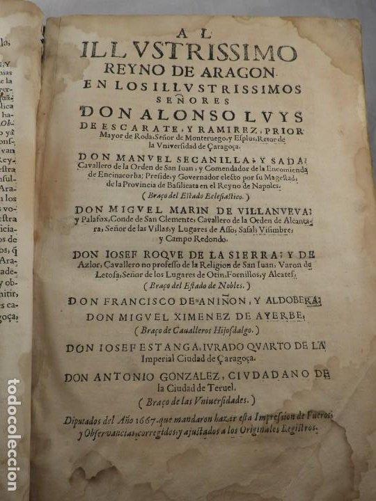 Libros antiguos: LIBRO FUEROS Y OBSERVANCIAS DEL REYNO DE ARAGON AÑO 1667 - Foto 4 - 190810318