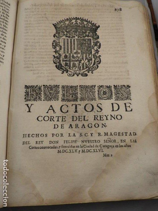Libros antiguos: LIBRO FUEROS Y OBSERVANCIAS DEL REYNO DE ARAGON AÑO 1667 - Foto 11 - 190810318
