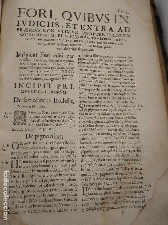 Libros antiguos: LIBRO FUEROS Y OBSERVANCIAS DEL REYNO DE ARAGON AÑO 1667 - Foto 14 - 190810318