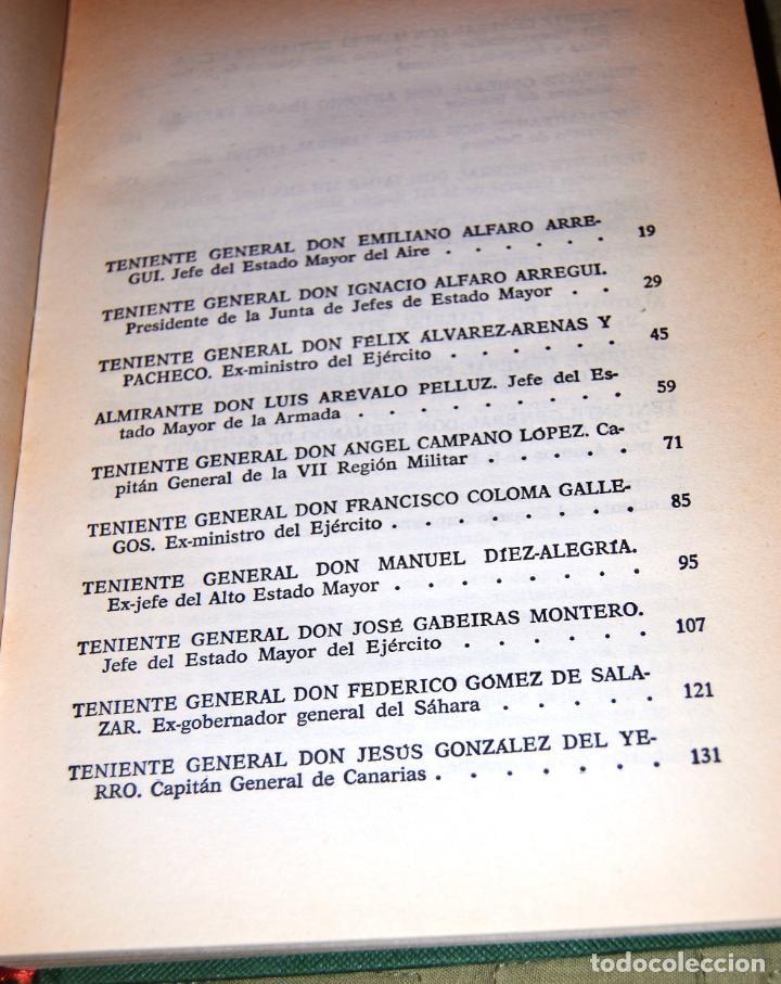 Libros antiguos: Mis conversaciones con los generales. Veinte entrevistas con altos mandos del Ejército y la Armada. - Foto 5 - 191155702