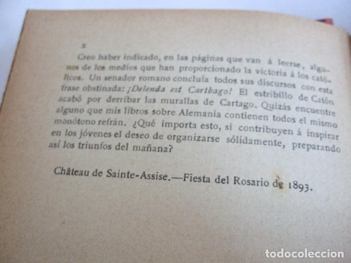 Libros antiguos: KETTELER Y LA ORGANIZACION SOCIAL EN ALEMANIA - ALFONSO KANNENGIESER - 1893? - - - Foto 5 - 191976032