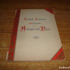 Libros antiguos: (TC-135) SOCIEDAD ECONOMICA GRACIENSE DE AMIGOS DEL PAIS 1891. Lote 192772298
