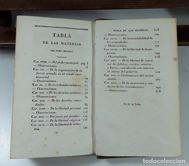 Libros antiguos: CURSO DE POLÍTICA CONSTITUCIONAL, TOMOS I Y II. IMP. L. JÓVEN. BURDEOS. 1823. - Foto 9 - 194027727
