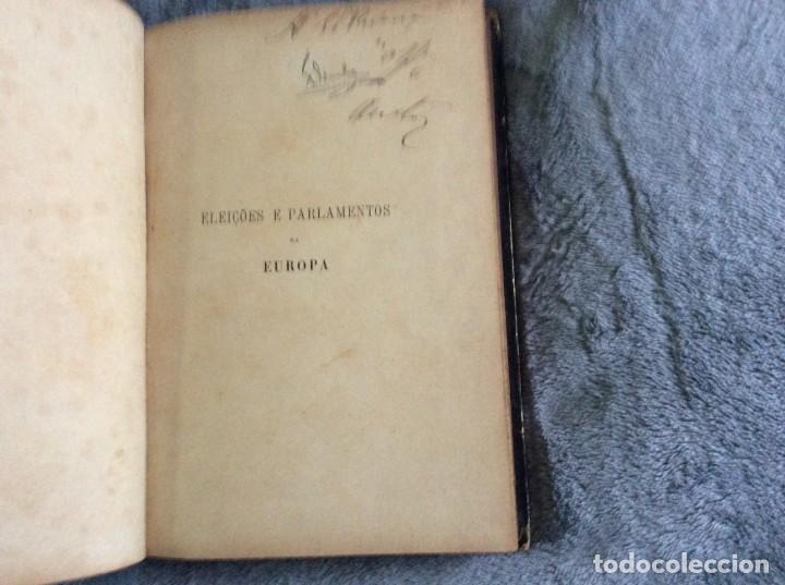 Libros antiguos: Elecciones y parlamentos en Europa / Henrique Baptista. Año 1903, 1.ª edición. Escaso. Envio grátis - Foto 6 - 194110321