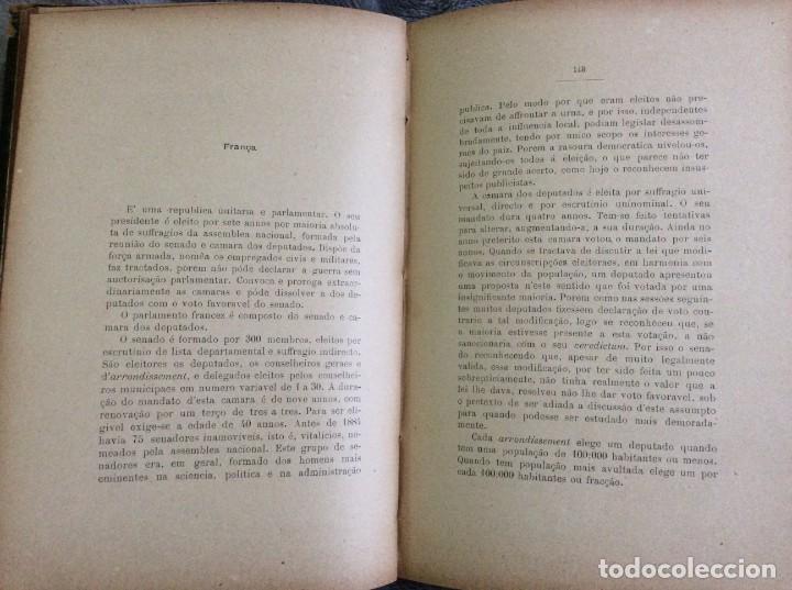 Libros antiguos: Elecciones y parlamentos en Europa / Henrique Baptista. Año 1903, 1.ª edición. Escaso. Envio grátis - Foto 10 - 194110321