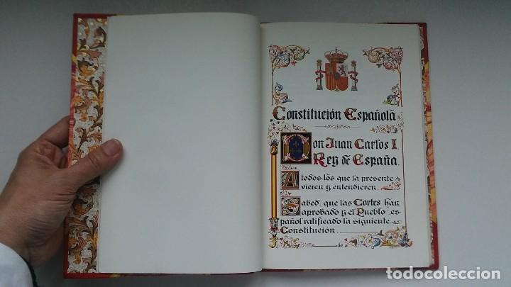 Libros antiguos: Constitución Española 1978 [Facsímil]/ Congreso de los Diputados; Senado ¡Encuadernación artesanal! - Foto 15 - 194154456