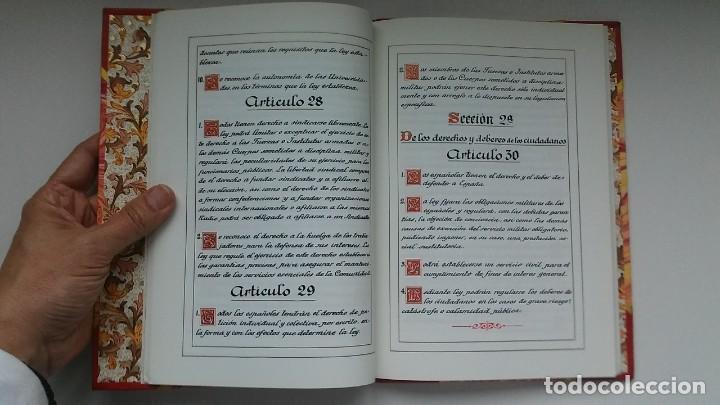 Libros antiguos: Constitución Española 1978 [Facsímil]/ Congreso de los Diputados; Senado ¡Encuadernación artesanal! - Foto 16 - 194154456